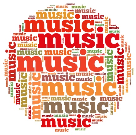 ballad: Music info-text graphics and arrangement concept on white background  word cloud   Stock Photo