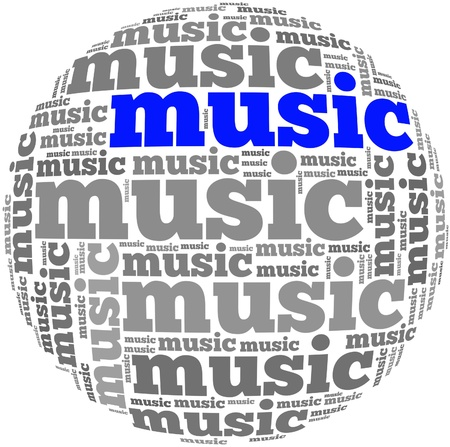 Music info-text graphics and arrangement concept on white background  word cloud Stock Photo - 20654366
