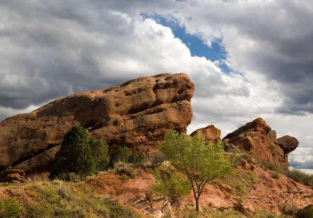 コロラド州の赤い岩の形成