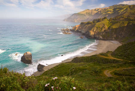 big sur: This is an early morning image of the Big Sur coastline. Stock Photo
