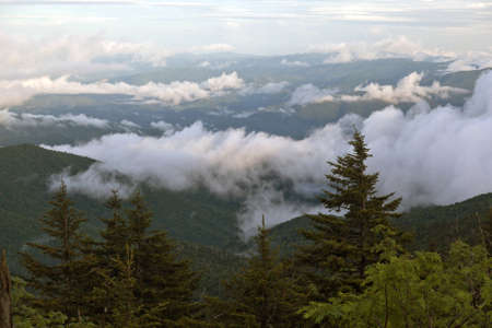 Morning Clouds Over Smoky Mountain National Park photo