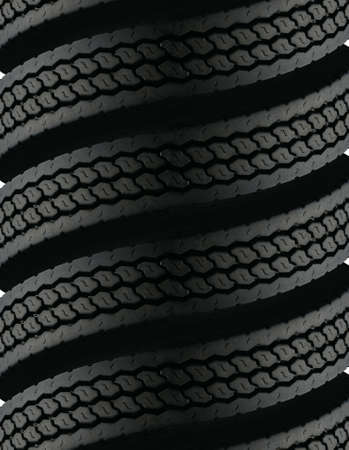 stacked up: spiral tire pattern