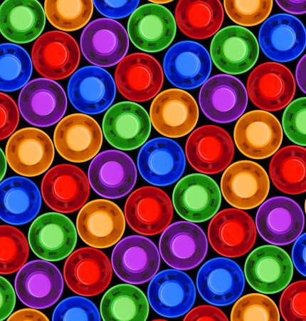 tops of colored highlighter pens Banco de Imagens