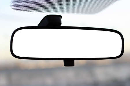 rear view mirror with clipping path Imagens - 3347940