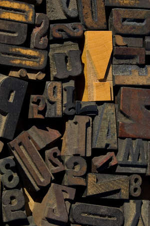 collection of wood type blocks photo