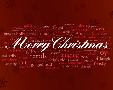 merry christmas and other holiday words Vector