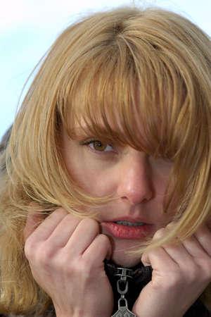 lonelyness: Pretty girl feels fear