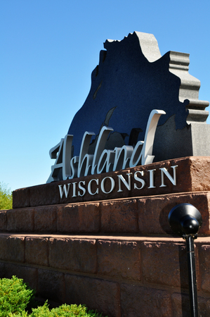 Ashland, Wisconsin Small Town Welcome Sign
