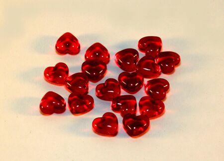 romantic: Gathering of hearts Stock Photo