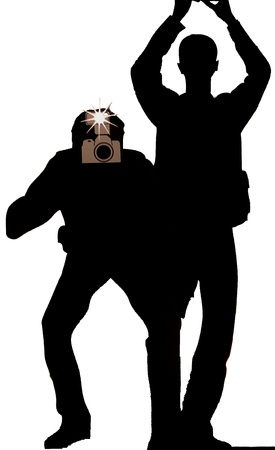 More silhouette paparazzi Stock Photo - 9232836