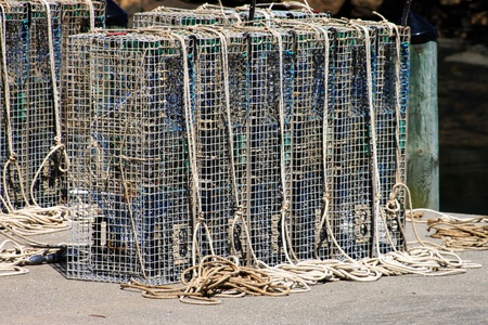 Lobster cages Stock Photo