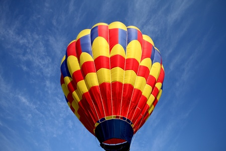 Yellow red striped balloon Imagens