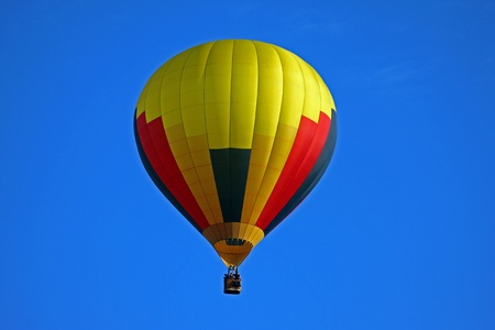 Yellow red black balloon photo