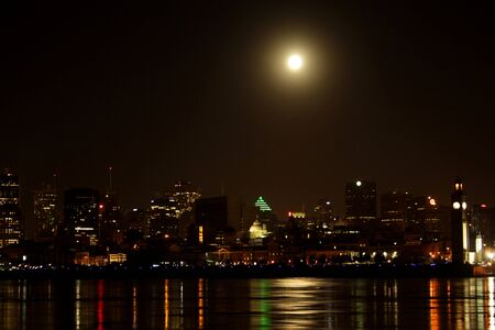 Full moon over Montreal2 photo