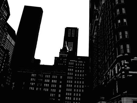 Manhattan silhouette Stock Photo