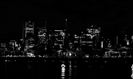 Montreal in silhouette photo