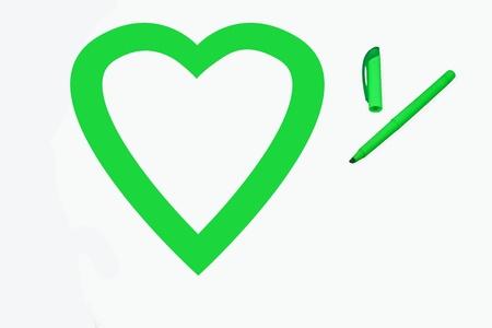 Green love 版權商用圖片