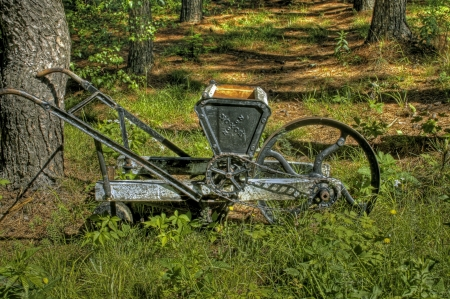 Vintage wheelbarrow 2 photo