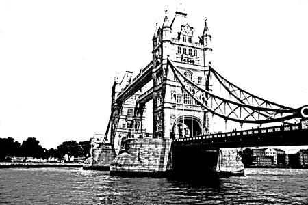 London Bridge in silhouette