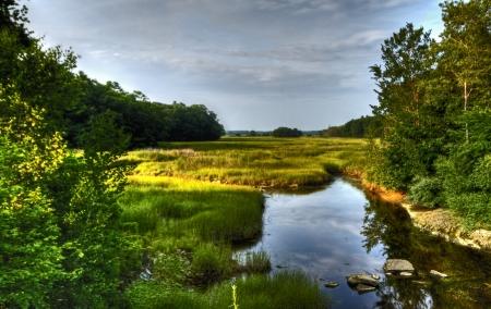Scarborough marsh Stock Photo
