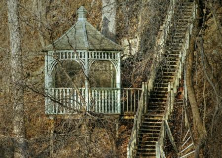 Gazebo and stairs