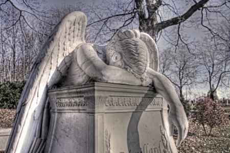 angel cemetery: Crying Angel