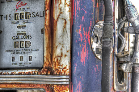 Vintage gas pump 162 Stok Fotoğraf