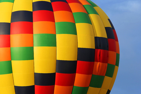 Close-up view of a colourful hot-air balloon to use as background Stock Photo