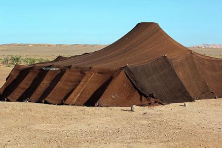 Bedouin tent found in the Sahara desert