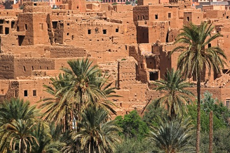 Ancient Kasbah found in Moroccos desertic countryside Standard-Bild - 110477290