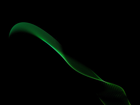 computer generated colorfull lines on black background Stock Photo