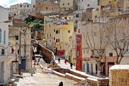 Narrow lanes and alleyways in Moroccan cities