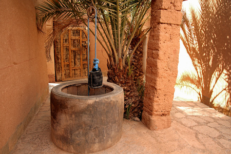 Private water well in Moroccan home near the desert still in use