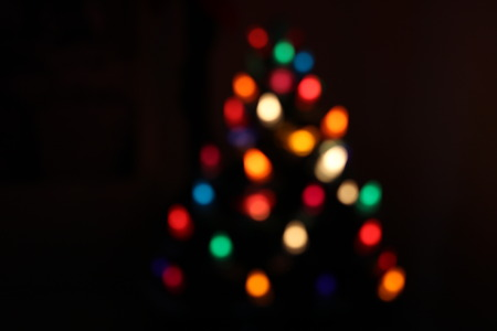 Christmas bokeh from lights in a christmas tree for bacground and texture purpose Stock Photo