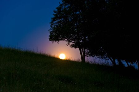 Full moon in summer clear night Stock Photo - 7262361