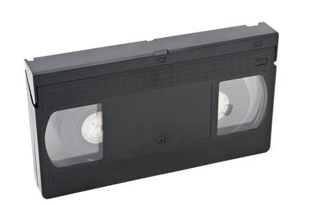 videocassette: Edad obsoleto videocasete sobre fondo blanco