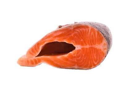 The big piece of red trout for stake Stock Photo - 7584535