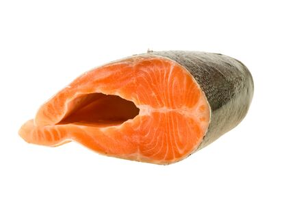 The big piece of red trout for stake Stock Photo - 7584536