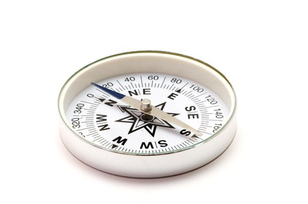 Tourist compass on a white background Stock Photo - 8058833