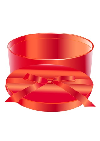 red box for a gift with bow photo