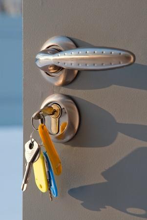 Open the door handle and keys photo