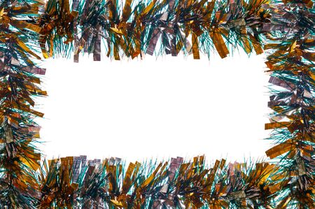 background color of the Christmas tinsel photo