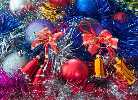 mirth: Hand bells on a Christmas New Year tree