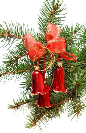 Hand bells on a Christmas New Year tree Stock Photo - 11746605