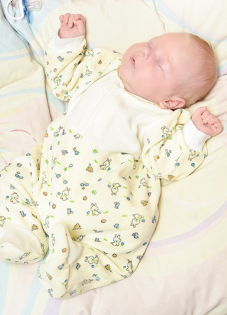 little newborn baby sleeps quietly Stock Photo - 11746630