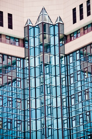 Modern high-rise building with large windows Stock Photo - 12200842