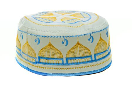 skullcap: National Islamic headdress with embroidered skull-cap