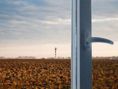 A new modern plastic window open Stock Photo - 12624347