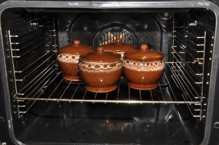 clay pot cooked in oven photo