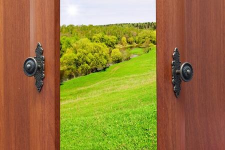 ドア ハンドル、キー 写真素材